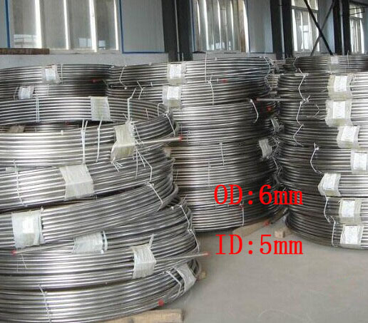 6x0.5mm Stainless Steel Coil Gas,Oil pipe experiment tube 2 meters(China (Mainland))