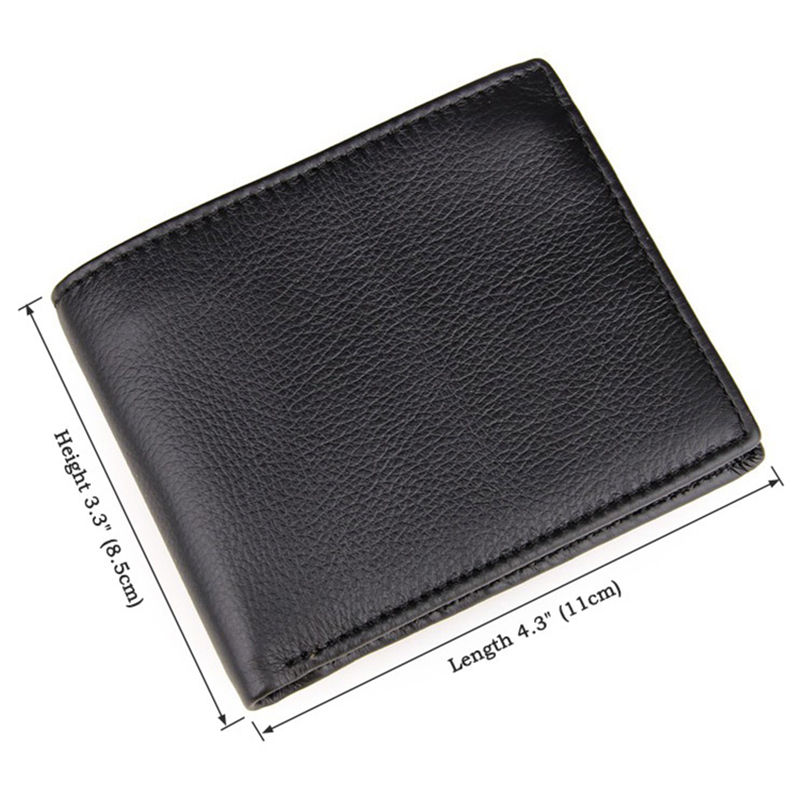 Top Quality real leather wallet brand purse male black wallets men business style monedero billeteras best gift for man(China (Mainland))