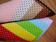 27 pieces Polka Dots and Hearts Printed 15*15cm 1MM Felt Fabric 100% Polyester Nonwoven DIY Felt Cloth Pack Drop Shipping!(China (Mainland))