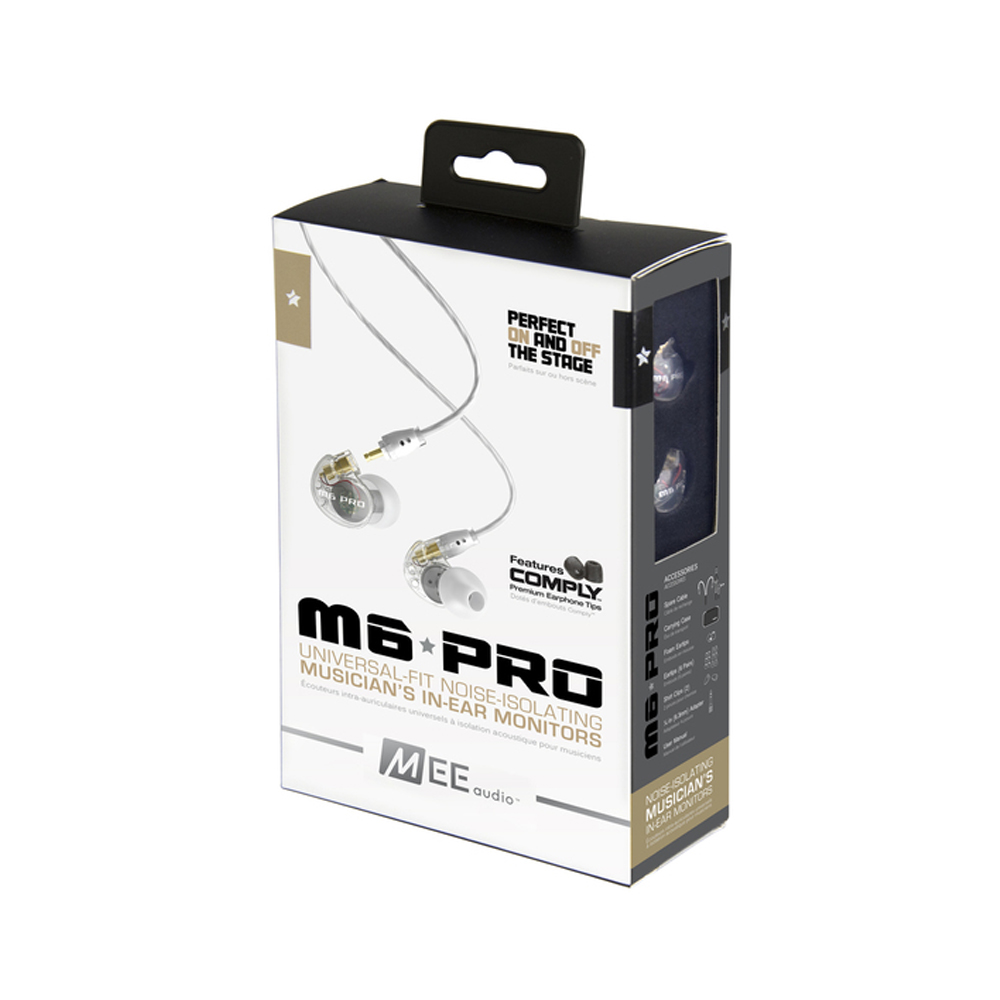 Wooeasy MEE audio M6 PRO Universal-Fit Noise-Isolating earphones Musician's In-Ear Monitors headset with retail box