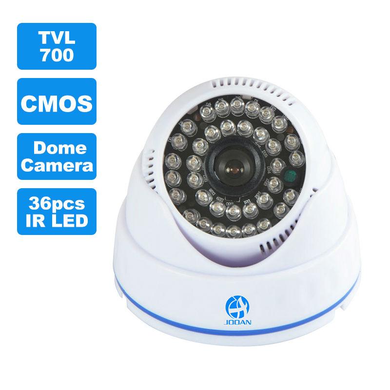 JOOAN 1/3 CMOS 700TVL Indoor Security CCTV Camera 36pcs IR LED Home Video Surveillance HD Night Vision Video Mini Dome Camera(China (Mainland))