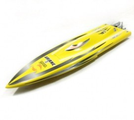 1117 Night Hawk Racing Rocket Boat-Yellow/ Electric Brushless RC Boat Fiberglass with 2858 Brushless Motor, 125A ESC with BEC(China (Mainland))