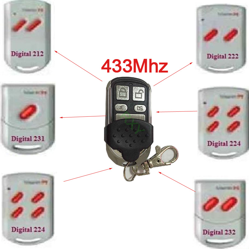 free shipping 4 channel duplicator marantec 433mhz rolling code remote(China (Mainland))