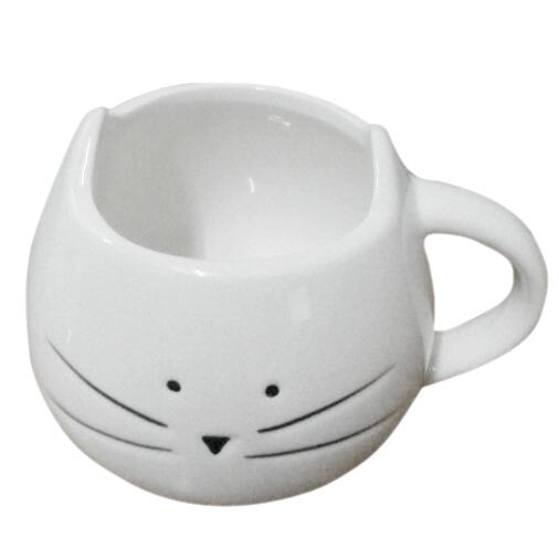 TOOGOO(R)5pcs( Coffee Cup Black Cat Animal Milk Cup Ceramic Lovers Mug Cute Birthday gift,Christmas Gift(White)(China (Mainland))