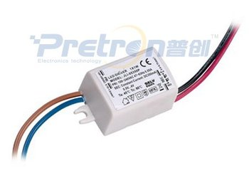 Free shipping Power LED Driver|led lights transformer|Input:100~240V Output:0.5~4V 350mA 1W|professional led driver circuit