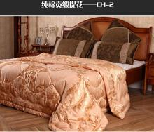 winter wool quilt bedding insert gold super king comforter blanket wool size 220*240(China (Mainland))