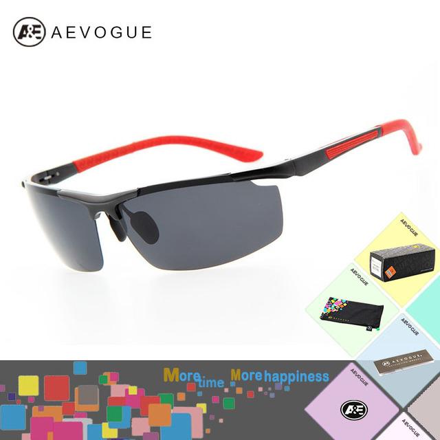 Aevogue с чехол Al - м . сплав марка спорт полароид солнечные очки мужчины очки солнцезащитные очки поляризованные CE AE0142