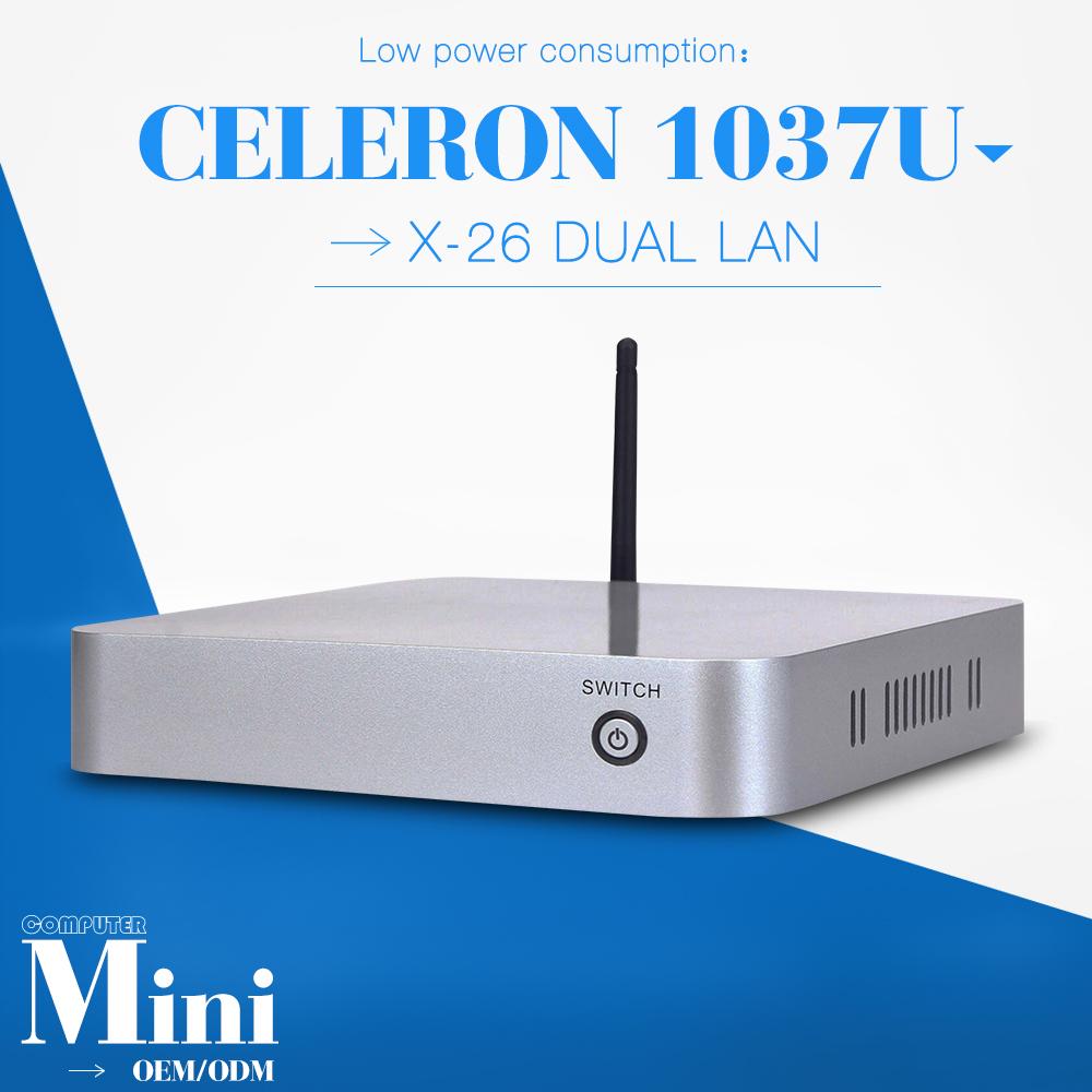 C1037U 2 lan port 2gb ram 320gb hdd CPU C1037U diy computer fan embedded computer desktop pc mini pc thin client(China (Mainland))