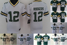 2016 Women Ladies Green Bay Packer,Aaron Rodgers,eddie lacy,Randall Cobb,Montgomery,Clay Matthews,100% stitched logo(China (Mainland))