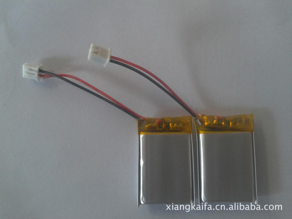 Supply mini stereo battery, battery 602,045 resonant sound, high-quality, high-end cell lithium battery(China (Mainland))
