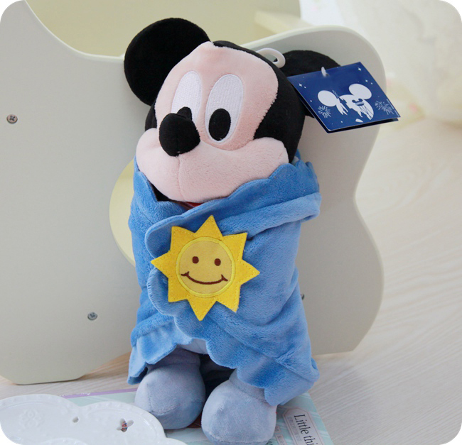 35cm baby toys child doll Mini Lovely Mickey Mouse Stuffed Animals Plush Toys For baby christmas gift(China (Mainland))
