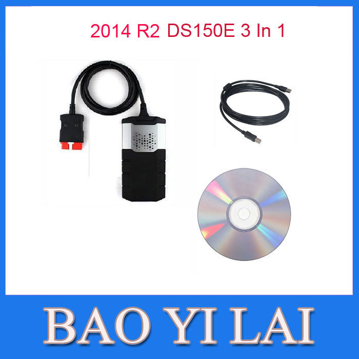 New 2014 R2 VCI DS150e CDP Plus PRO without Bluetooth For DELPHI DS150E Truck Car Auto OBD OBDII Scanner cdp Diagnostic tools(China (Mainland))