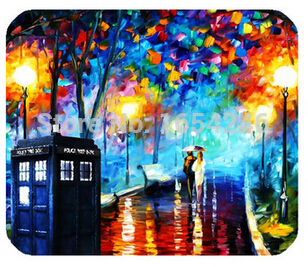 well bound Retail Hot Sell New Size Gaming Necessary Mouse Mat Doctor Who Tardis Non-Skid Rubber Pad(China (Mainland))