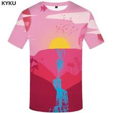 3d футболка галактика космическая Футболка мужская лес аниме одежда птица футболки повседневные животные футболка с принтом рубашка с коро...(China)