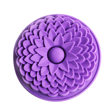 22CM Sunflower silicone cake mold,cake pan, Bread Pie Flan Tart Birthday Party Cake Silicone Mold Pan Bakeware(China (Mainland))