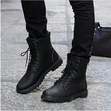 Spedizione gratuita retro stivali da combattimento inverno inghilterra stile stivali da uomo stivali da equitazione moda brevi scarpe nere degli uomini hot(China (Mainland))