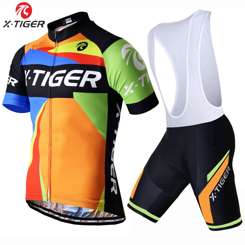 X-Tiger Abstract Summer Cycling Clothing/Quick-Dry Cycle Clothes/Race Bicycle Wear Ropa Ciclismo/MTB Bike maillot Cycling Jersey(China (Mainland))