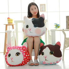 Buy cat pillow soft cushion baby doll birthday gift Children stuffed plush 1 piece/lot wholesale 40cm Cute cat head plush toys ) for $12.99 in AliExpress store