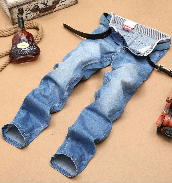 Бесплатная sТазping2015 мода мужские джинсы свободного покроя мужской покрой 100% ...