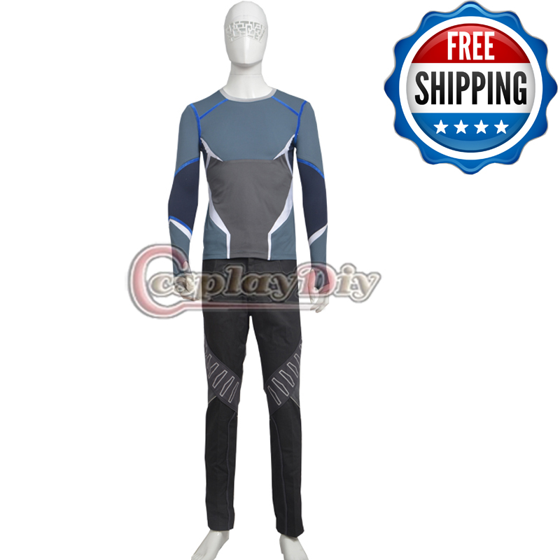 The Avengers Age of Ultron Quicksilver Outfits Adult Men Halloween Superhero Cosplay Costume Custom Made D0604(China (Mainland))