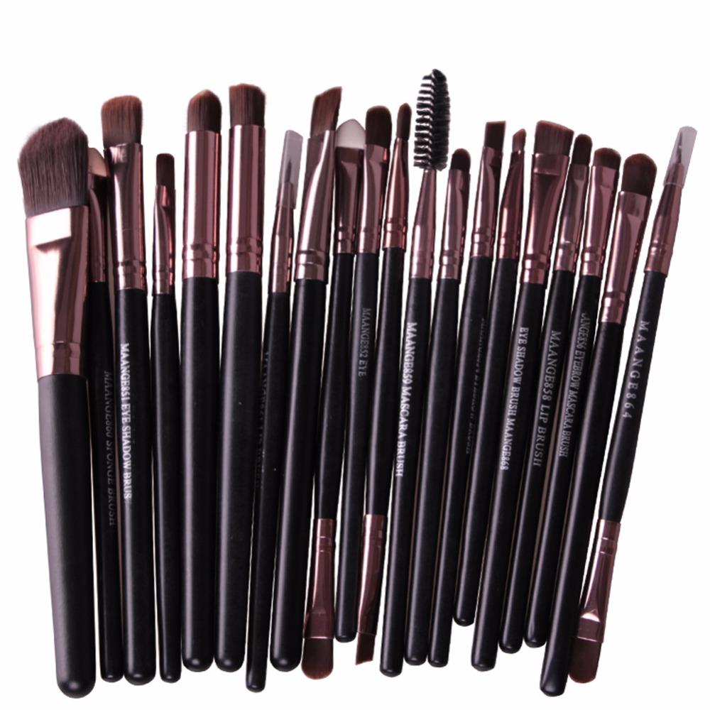 20Pcs Rose gold Makeup Brushes Set Pro Powder Blush Foundation Eyeshadow Eyeliner Lip Cosmetic Brush Beauty Make up Brushes Tool(China (Mainland))