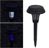 Solar mosquito killer purple light Solar lawn lamp garden lights  2pcs/lot Free shipping