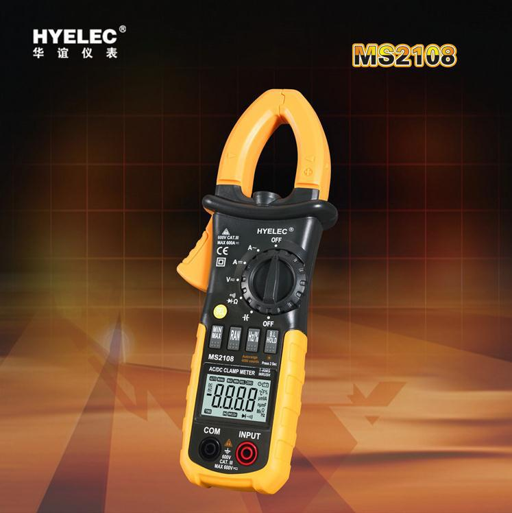Free shipping HYELEC MS2108 Mastech digital Clamp testing inrush current true RMS ohmmeter clamp meter equal to FLUKE F317(China (Mainland))