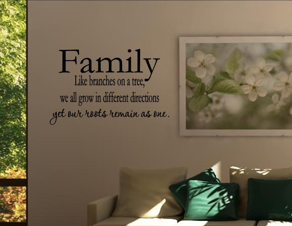 Sentiments Tree Wall Decor : Family like branches on a tree vinyl wall decals quotes