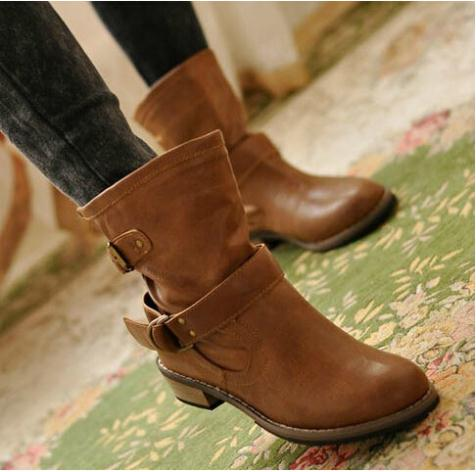 shoes woman ladies shoes zapatos mujer chaussure femme women boots ankle boots bota Riding Boots Casual Ladies Martin Boots(China (Mainland))