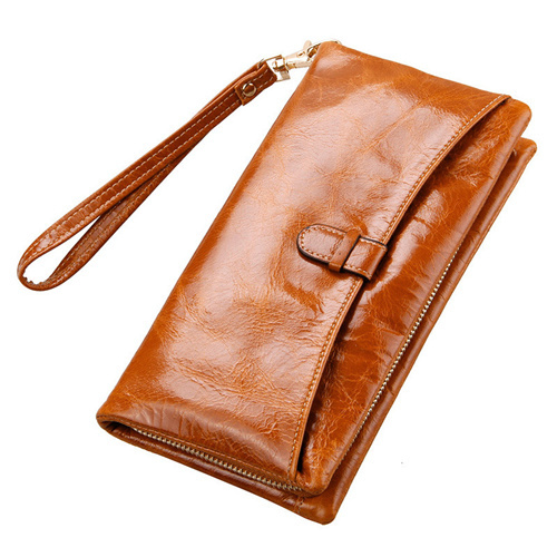 2016 New Arrival High Quality Leather Wallet Female Cowhide Red Money Bag Women Purse Long Wallet Zipper Coin Pocket Carteras(China (Mainland))