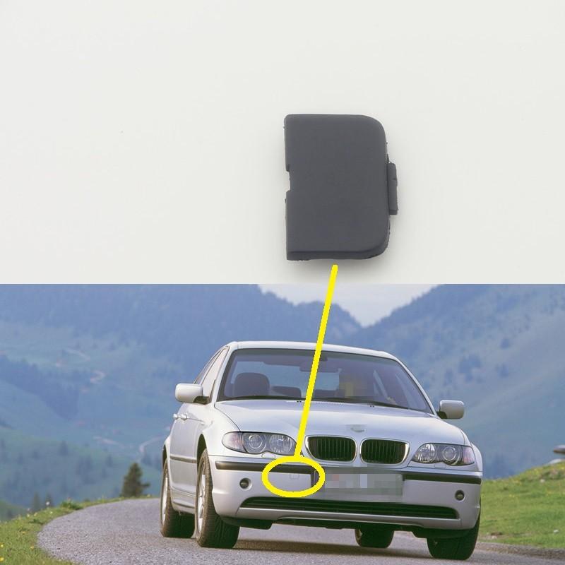 1PCS Rear Bumper Tow Bracket Cover Hauling Cap for BMW 3 series E46 2002-2004
