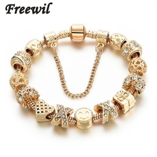 Buy 2016 New Arrival Heart Charm Bracelets Women Gold Chain Bead Bracelets & Bangles Original Pulsera SBR160131 for $3.48 in AliExpress store