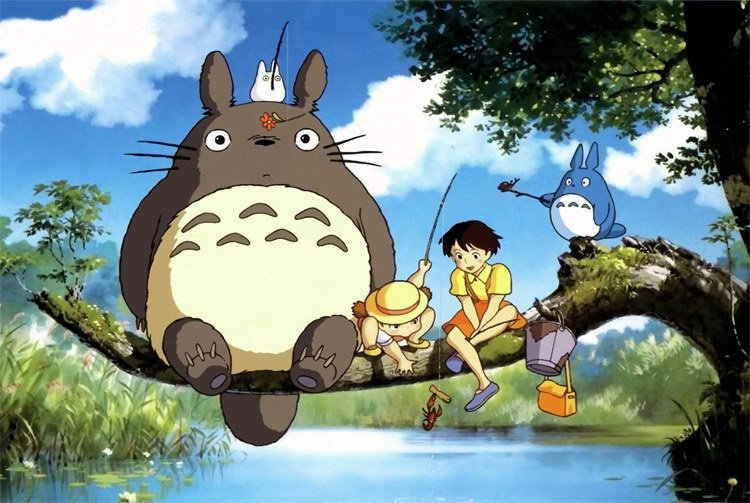 Wooden Jigsaw Puzzles 1000 Pieces High Quality Toys for Children Japanese Animation 75*50cm Decorative DIY My Neighbor Totoro(China (Mainland))