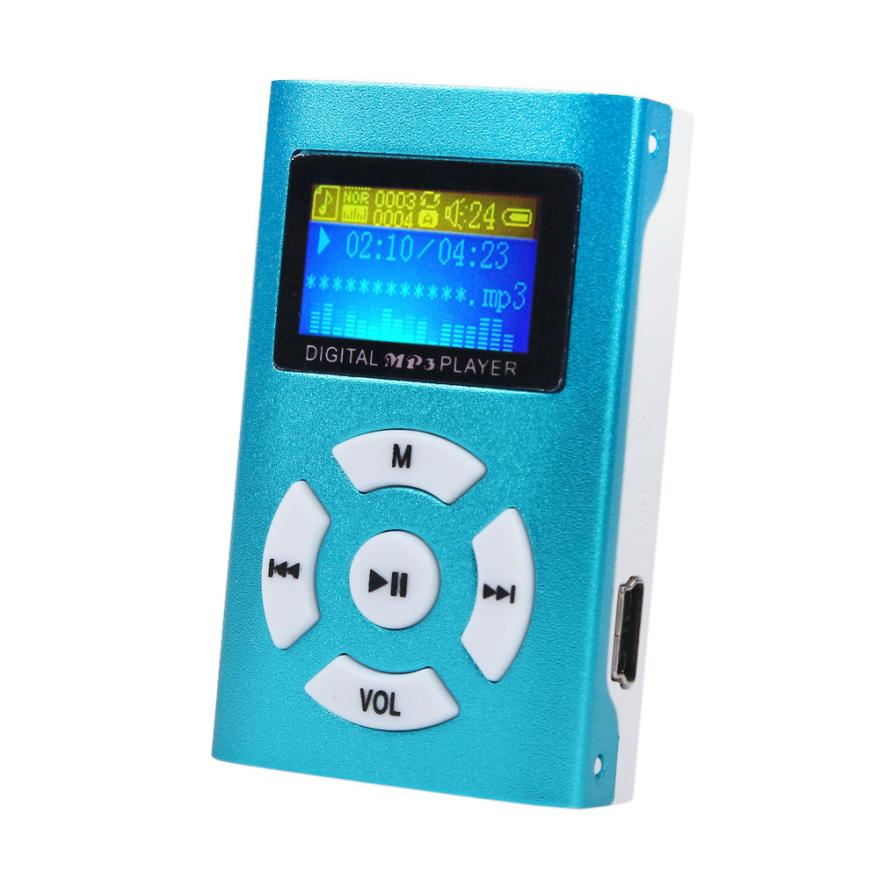 Adroit USB 2 0 1 1 Mini Rechargeable MP3 Player LCD Screen Support 32GB Micro SD
