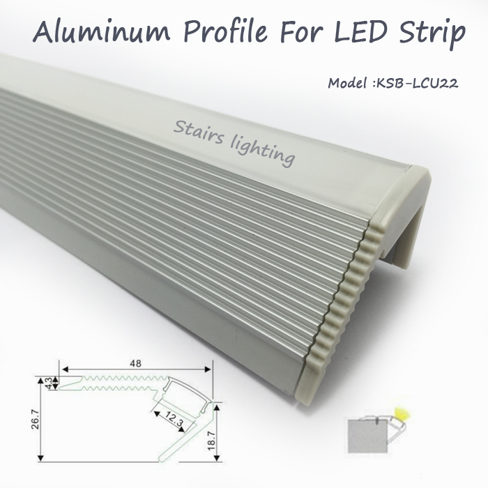 Здесь можно купить  20pcs/lot raluminum profile for stair lights led bar light aluminum groove for stair decoration wholesale  Свет и освещение