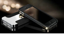 Hybrid Gold Hard Case For iPhone 5 5S 4 4S Luxury Phone Bag Back Cover Plate
