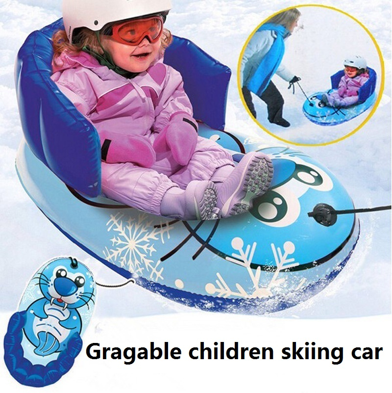 """35"""" Kids Swimming Seal Pool Floats Inflatable Airttress Toys Water Boat Kickboard Ice Ski Snow Skiing Tubes Sledge Twist Sleds(China (Mainland))"""