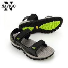 Navigo hommes sandales chaussures d'été en cuir casual plage respirant hommes sandales confortables mode hommes plage chaussures(China (Mainland))