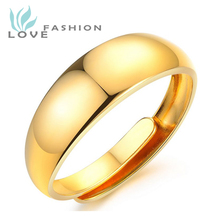 Wholesale 2015 New Style Fashion Fine Jewelry Hot Sale Resizable Refined Copper-plated 18k Gold Ring For Men Party Rings Kj013mk(China (Mainland))