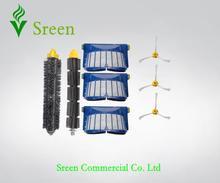 3 x AeroVac фильтр и боковая щетка и гибкий ударные щетка для пылесосы Roomba 600 серии 595 620 630 650 660 пылесос