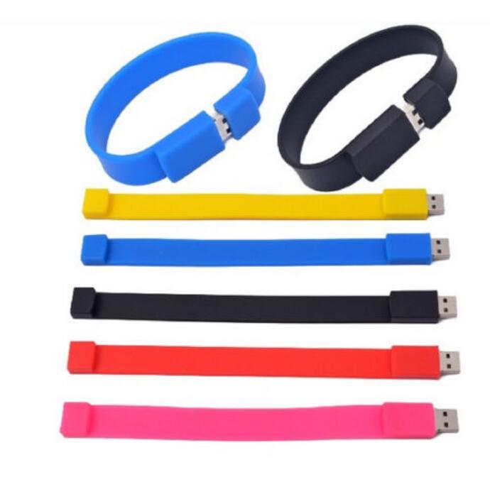 Wrist band model usb 2.0 flash pen drive (offer custom logo) random colour (More than 30pcs freelogo)(China (Mainland))