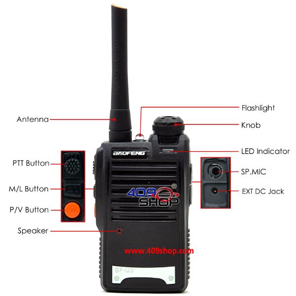 New Designed BF-U3 walkie dual band radio mobile cb radio(Hong Kong)