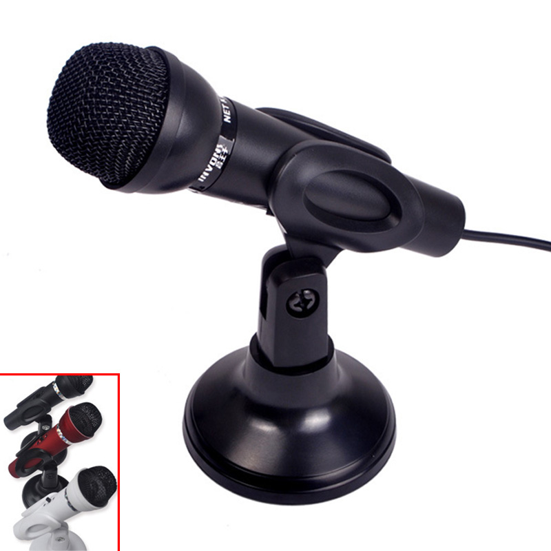 3.5mm Stereo Microphone Mic for Laptop PC Compter Skype Web Chat Plug and Play Black(China (Mainland))
