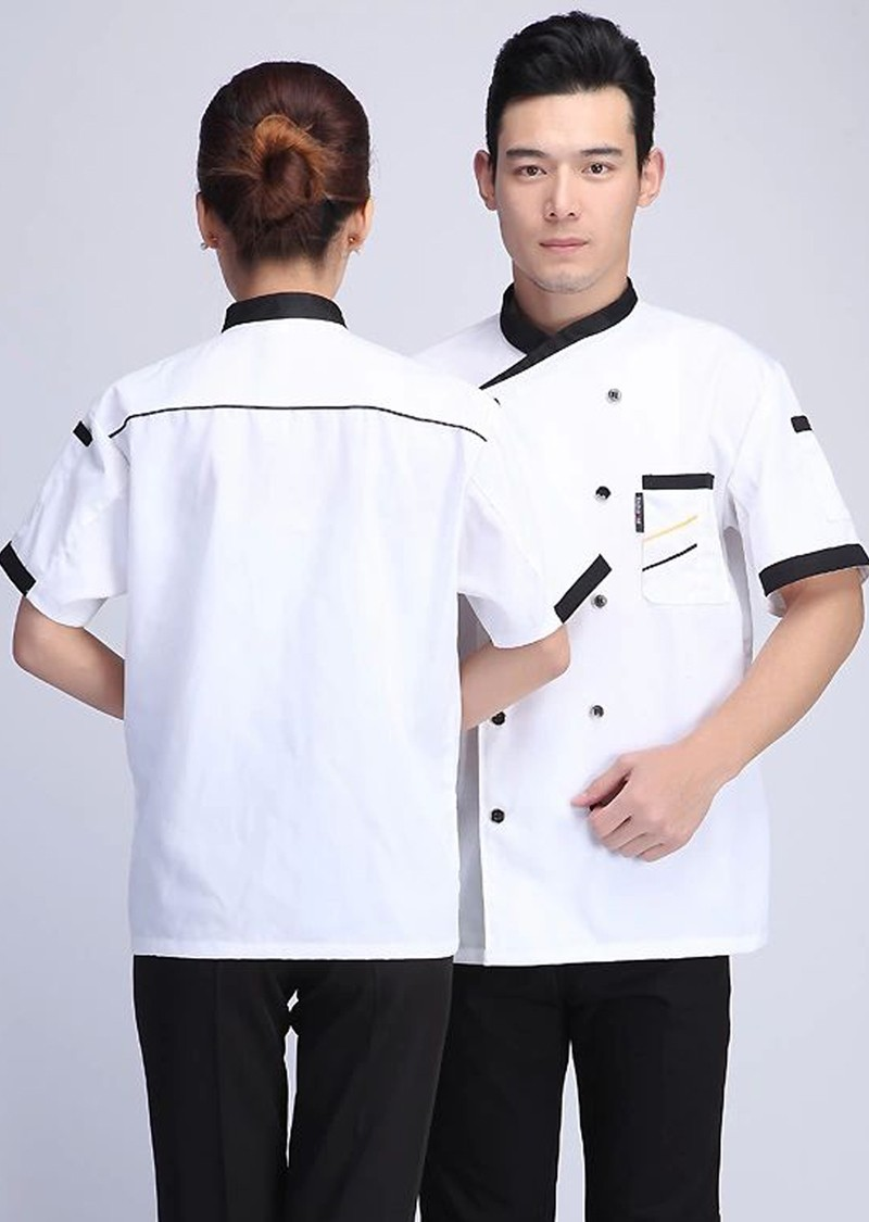 764c971cb 2019 Wholesale New Hot Cook Suit Short Sleeve White Chef Jacket ...