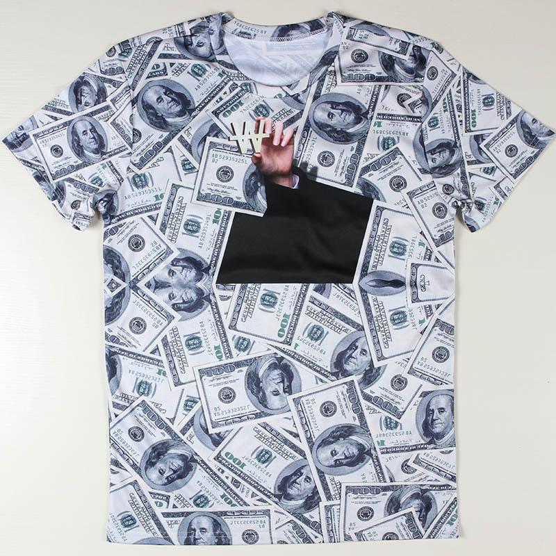 Novelty money man t shirt dollars o neck t shirt cool for 6 dollar shirts coupon code free shipping