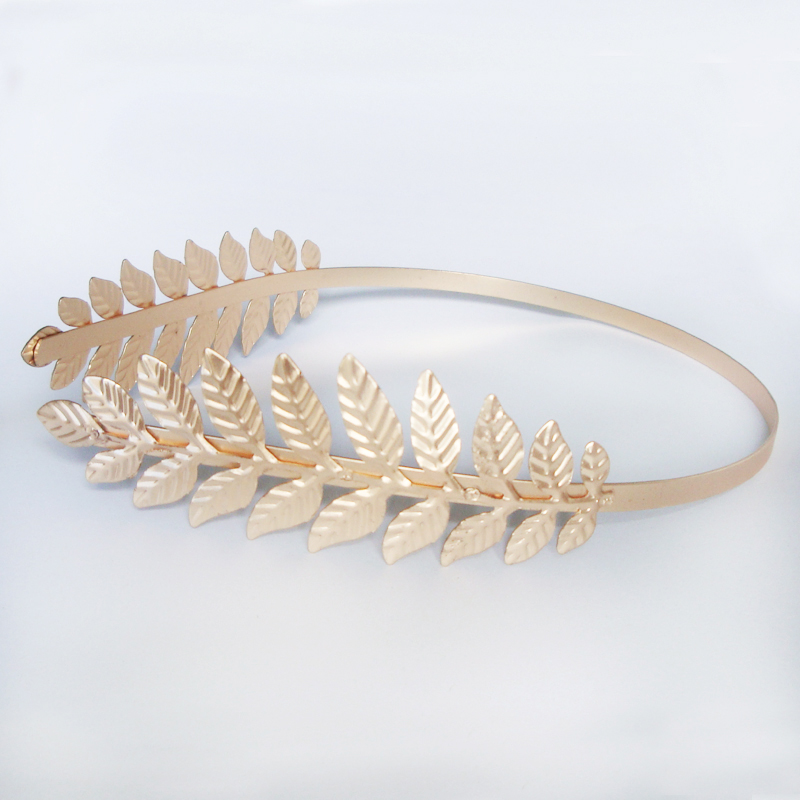 2016 Hot Fashion Gold Leaf Hairbands Trendy Baroque Summer Double Leaves Hairbands Hair Ornaments Accessory Factory Wholesales(China (Mainland))