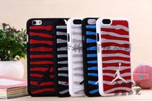 NEW 3D Jordan Case Hard Plastic For Iphone6 6s 6plus Skin Cover NBA Sport Basketball Jordan Player Shooting Stripe(China (Mainland))
