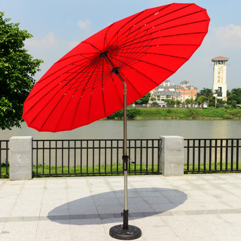 Outdoor furniture balcony garden umbrellas patio umbrella large stall folding round 2.5 m booth<br><br>Aliexpress