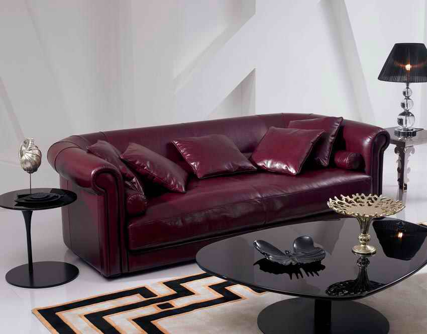 2015 New Arrival Genuine Leather Chesterfield Sofa