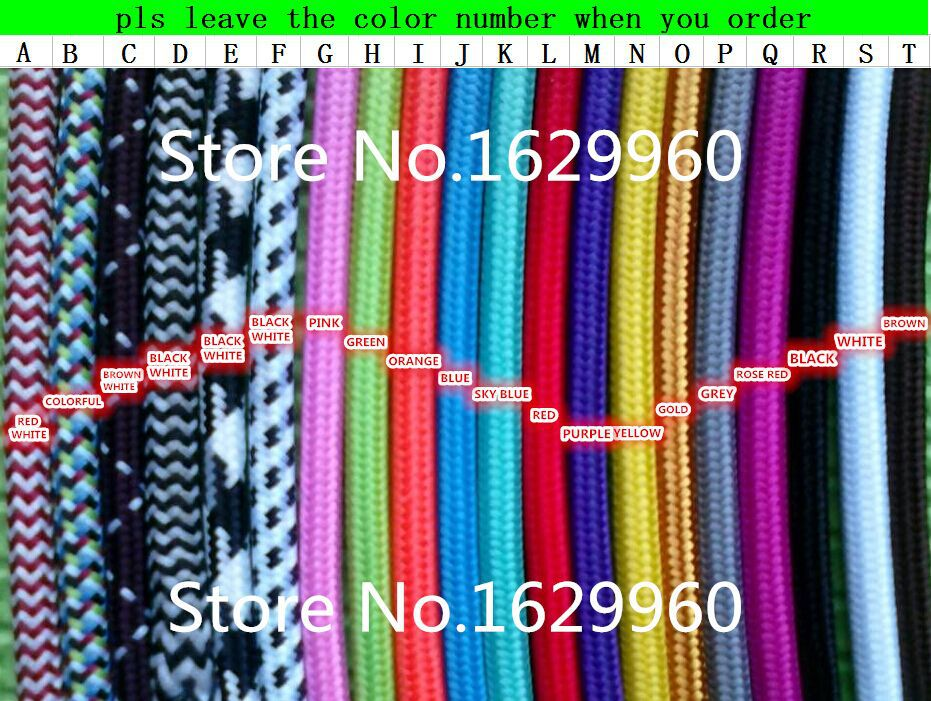 50m/lot DHL Free Shipping 2x0.75mm2 Textile Electrical Wire Color Braided Wire Fabric Covered Electrical Power Cord Fabric Wire(China (Mainland))